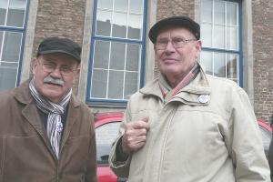 Willi Hoffmeister mit Uli Sander in D�sseldorf